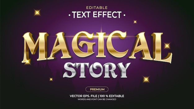 Magical story editable text effects