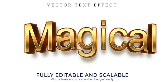 Волшебный эффект градиента текста с подходящим логотипом для компании или бизнеса