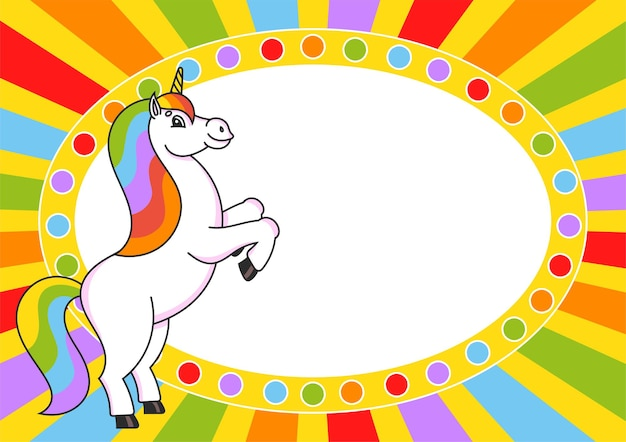 The magical unicorn reared up
