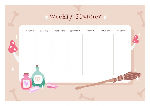 Magical weekly planner