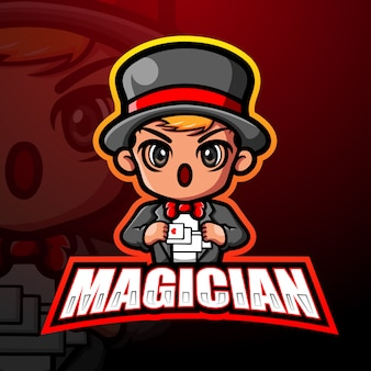 Magician mascot esport illustration