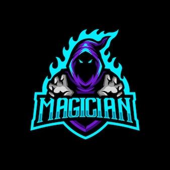 マジシャンマスコットロゴeスポーツゲーム