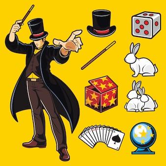 Magician vector pack