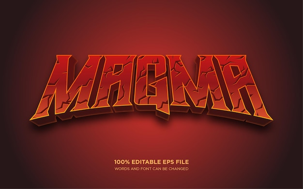 Magma 3d editable text style effect