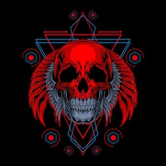 Magma skull illustration