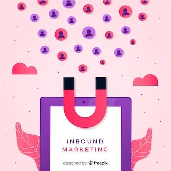 Magnete sfondo di marketing in entrata