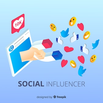 Magnet social influencer background