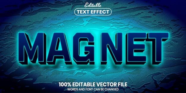 Магнитный текст, редактируемый текстовый эффект в стиле шрифта