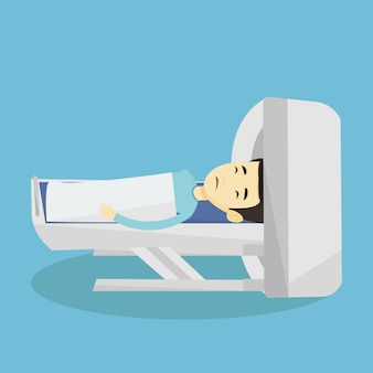 Magnetic resonance imaging illustration.