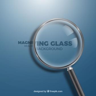 Фон увеличительного стекла в реалистичном стиле