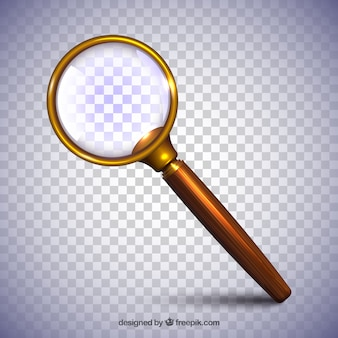 Magnifying glass background in realistic style