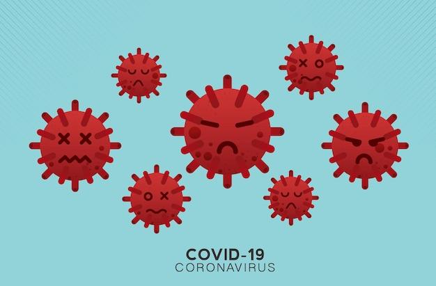虫眼鏡covid19コロナウイルスの概念の発生インフルエンザの背景パンデミックな医療の健康