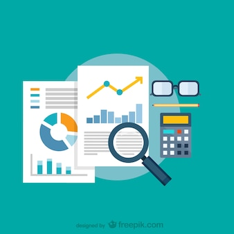 拡大鏡データ解析 Premiumベクター