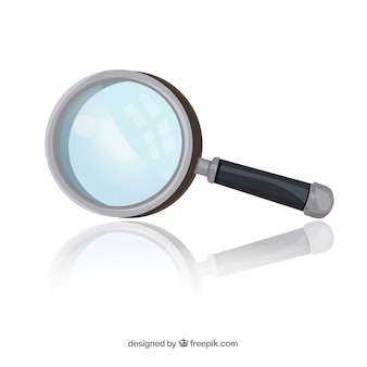 Magnifying glass in flat style