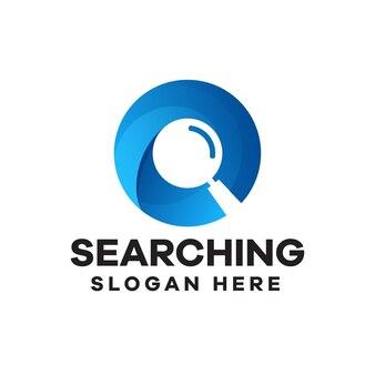 Magnifying glass gradient logo design