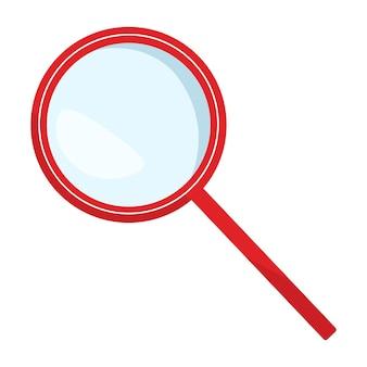 Значок увеличительного стекла изолирован. векторная иллюстрация в плоском дизайне на белом фоне.