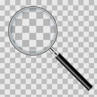 Magnifying glass isolated transparent