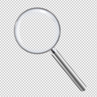 Magnifying glass isolated with gradient mesh,  illustration