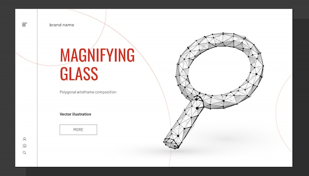 Magnifying glass low poly