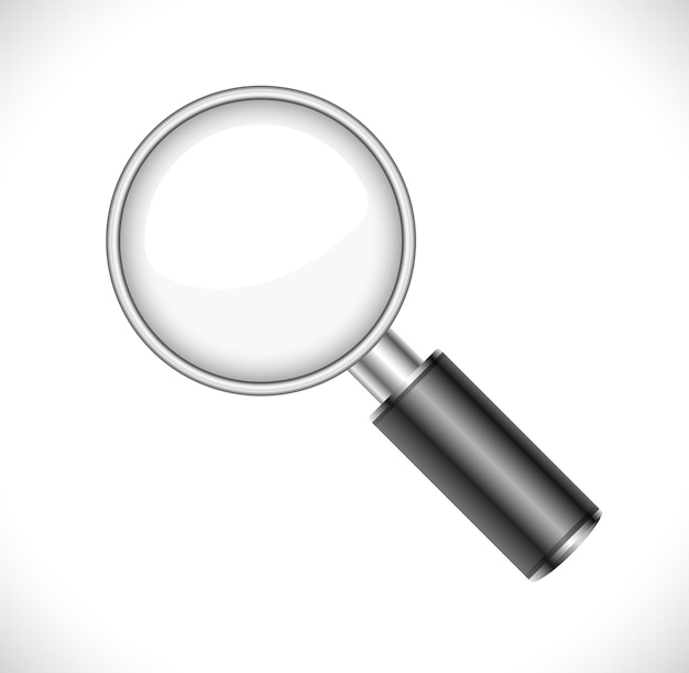 Magnifying glass realistic icon