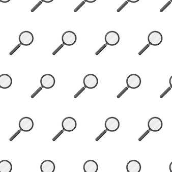 Magnifying glass seamless pattern  . magnifier theme   illustration