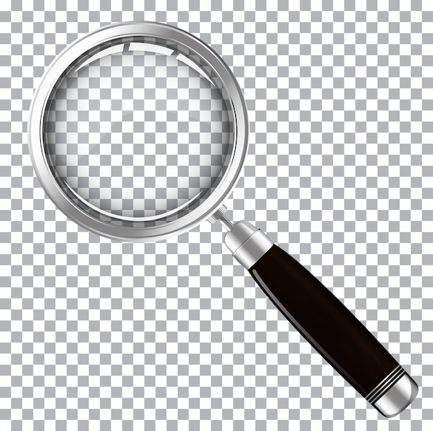 Magnifying glass with dark handle