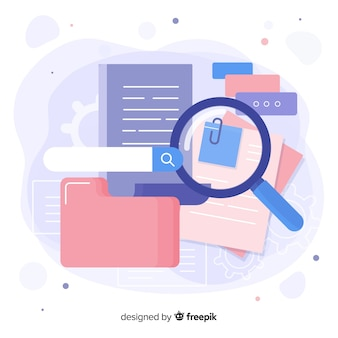 Magnifying glass with file searching