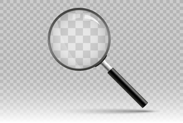 Magnifying glass with transparent background