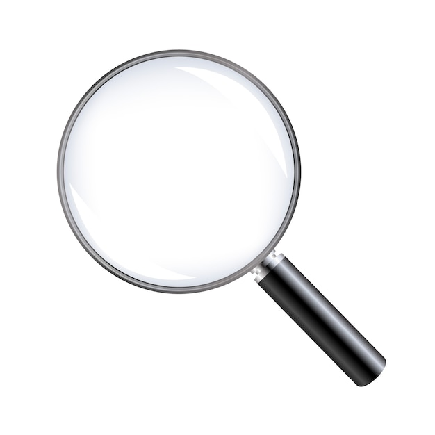 Magnifying glass with white background with gradient mesh, illustration