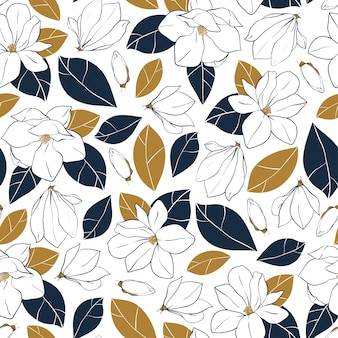 Magnolia flowers background