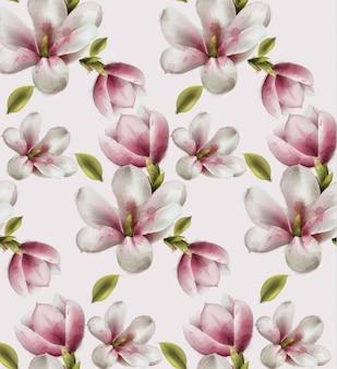 Magnolia pattern watercolor