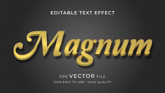 Магнум золото редактируемый текст эффект концепции