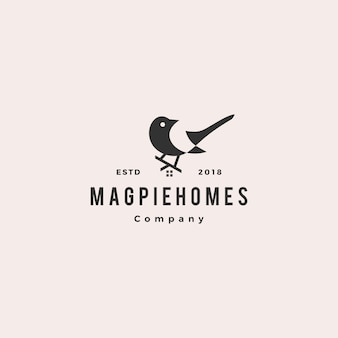 Magpie homes house logo hipster