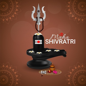 Maha shivratri creative shiling background