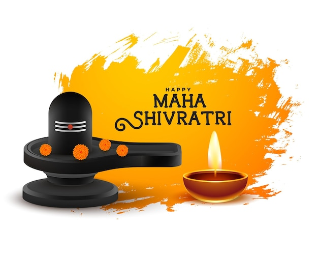 Maha shivratri festival blessings card design