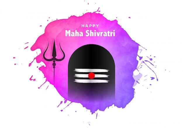Maha shivratri greeting card