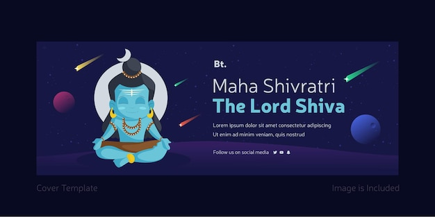 Maha shivratri the lord shiva cover page design