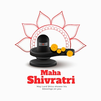 Maha shivratri traditional festival  design
