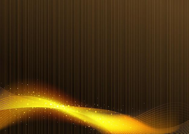 Фон из красного дерева и волна золотой сетки