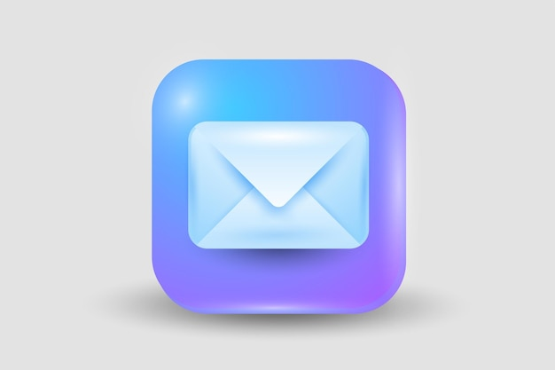 Mail button icon isolated