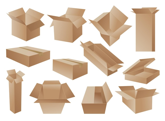 Mail containers in various shapes