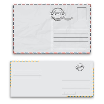 Mail envelopes with seal on white background.