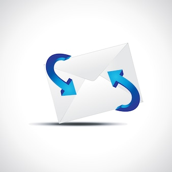Mail icon with arrow
