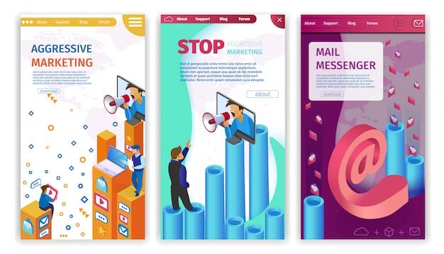 積極的なマーケティングの停止、mail messengerを設定します。