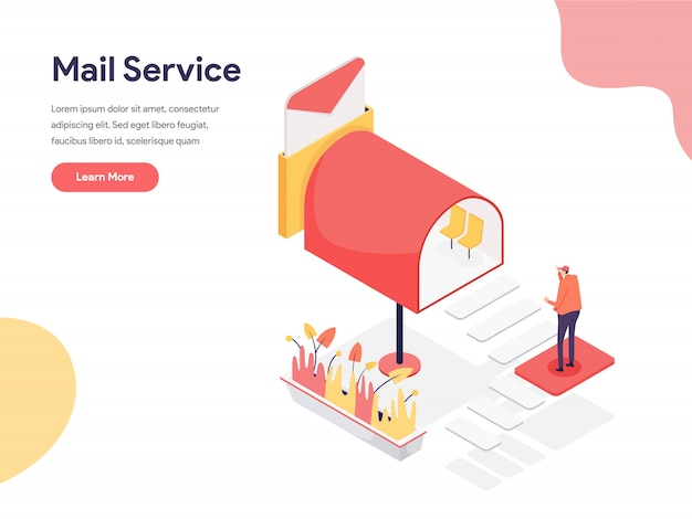 Mail service illustration