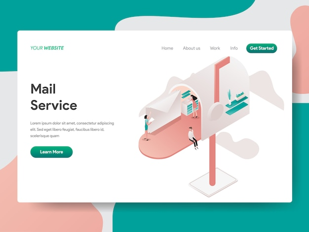Mail service for web page