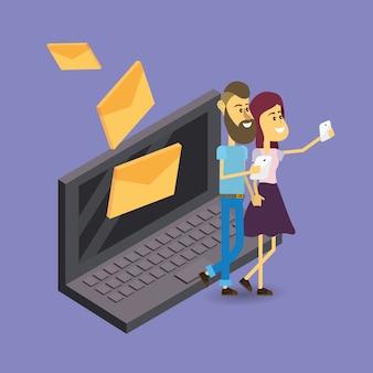Mail storage cartoon
