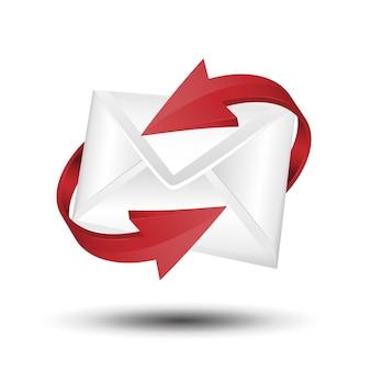 Почта с красной стрелкой