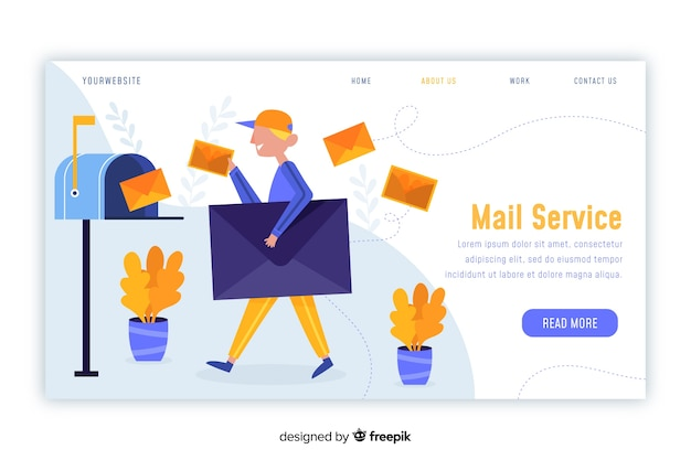 Mailbox concept for landing page