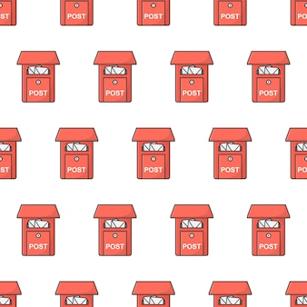 사서함 원활한 패턴입니다. 우체국 상자 테마 그림